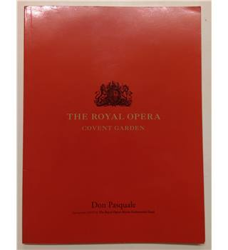 Juan Diego Flórez in 'Don Pasquale' - 2004 Royal Opera Covent Garden Programme