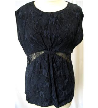 French Connection - Size: 8 - Black/Navy- Sleeveless top