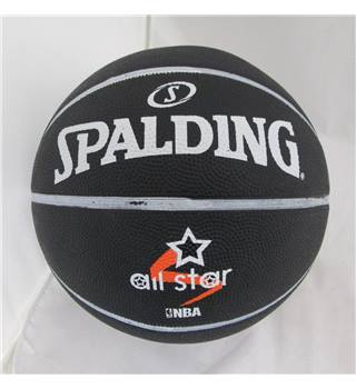 Spalding All Star NBA Basketball Size 7 New Black Spalding