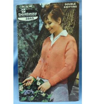 Vintage Knitting  bestway 3845 Classic cardigan in 5 sizes