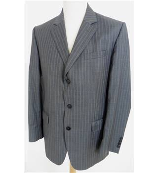 "Jaeger Size: Jacket, 40"" chest, reg fit & Trousers, 36"" waist, 29"" inside leg Grey Stylish Wool Designer Single Breasted Suit"