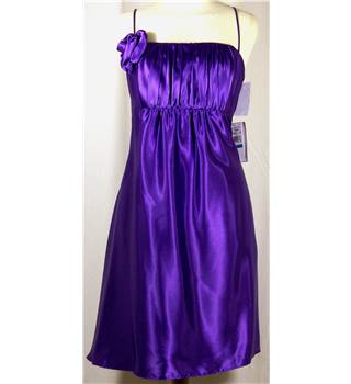 BNWT  Jessica McClintock Size 12 Purple strappy dress in polyester satin.