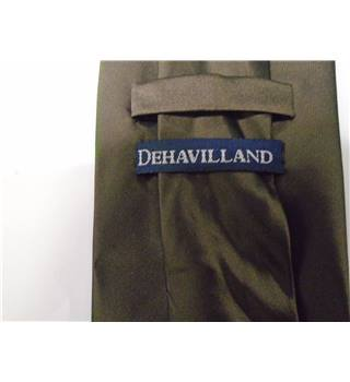 Dehavilland Metallic Chocolate Brown 100% Silk Tie