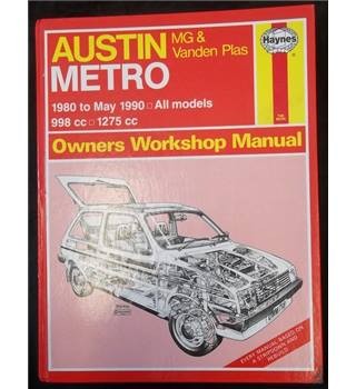 Austin Metro MG & Vanden Plas 1980 to May 1990 All Models 998cc, 1275cc