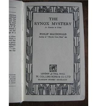 The Rynox Mystery. An Exercise in Crime.