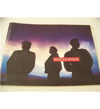 Simple Minds Street Fighting Years tour programme