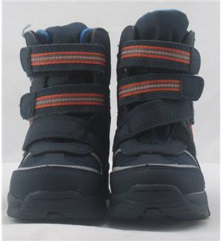 NWOT M&S Kids, size 4/20.5 navy mix waterproof boots