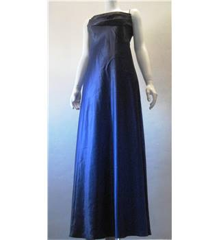 Original 80's Jump Apparel Co by Wendye Chaitin Size 10 Long Electric Blue Dress