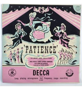 Gilbert and Sullivan's Patience : set of 2 Mono LPs - Godfrey, Isidore - LK 4047