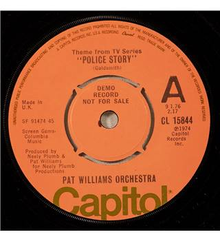 "Pat Williams Orchestra: Theme From TV Series ""Police Story"" Promo – Capitol Label – 7"" Single – Cat. No. CL 15844"