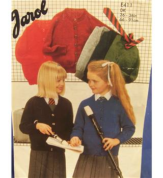 Vintage Jarol E411 Child's School Cardigan Knitting Pattern