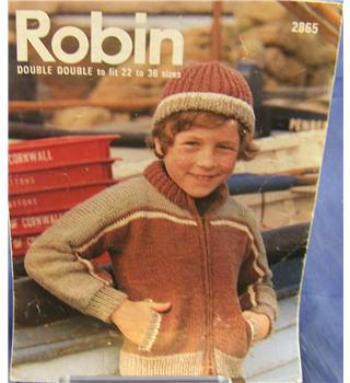 Vintage Robin 2865 Child's Jacket and Hat Knitting Pattern