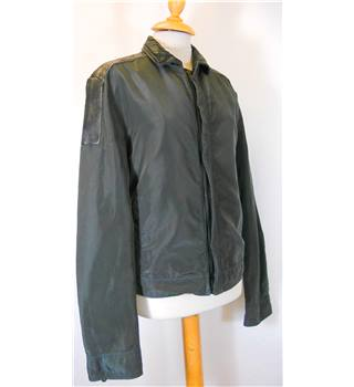 Dolce & Gabbana - Size: 48 - Bottle Green with Black leather - Smart jacket / coat