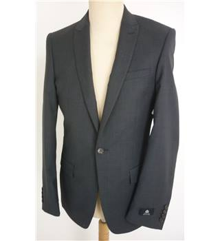 "M & S  Autograph 36"" Chest Slim Fit Charcoal Grey Stylish Pure New Wool Luxury Single Breasted Blazer"