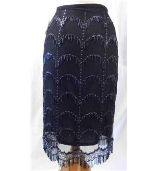 JFW - Size: 10 - Black sequined lined skirt