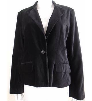 Fransa Size: L Black Velour Jacket