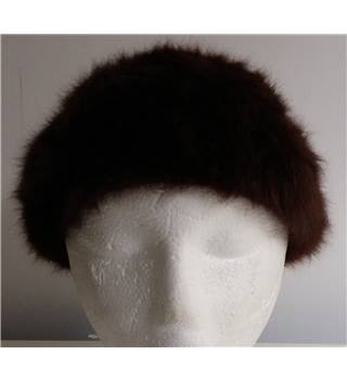 Kangol Circa 1970's Brown Faux Fur Hat