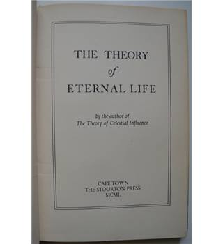 The Theory of Eternal Life - Rodney Collin - Limited Edition