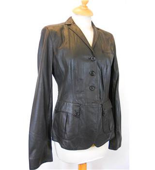 Hugo Boss - Size: 10 - Brown - Leather jacket
