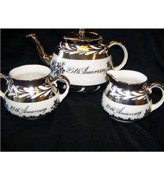 Gibsons 25th Anniversary 3-piece tea service