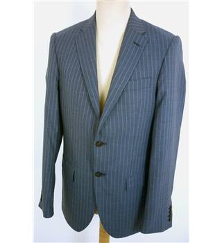 "BNWoT M & S Size: Medium, 38"" chest, tailored fit Moonlight Blue With Fine Pinstripe Stylish Wool Single Breasted Blazer"