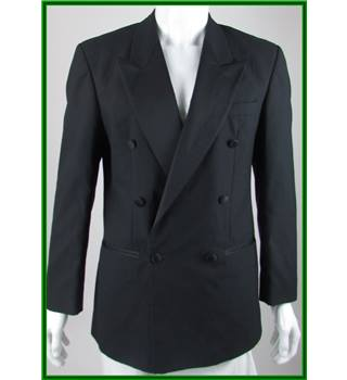 Pierre Cardin - Size: 38R - Black - Wool Mix - Double breasted dinner jacket