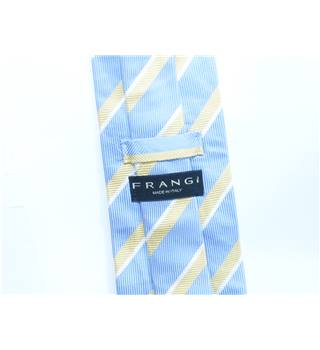 Frangi Light Blue And Yellow Silk Diagonal Stripe Tie