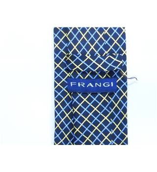 Frangi Navy Printed Criss Cross Silk Tie