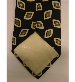 Turnbull & Asser Black Diamond Patterned Silk Tie