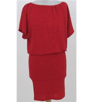 b.young: Size XS: Red glitter loose blouson top dress