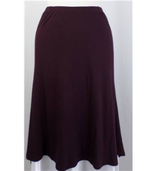 Isabel de Pedro - Size: 12 - Dark Red - Asymmetric Skirt