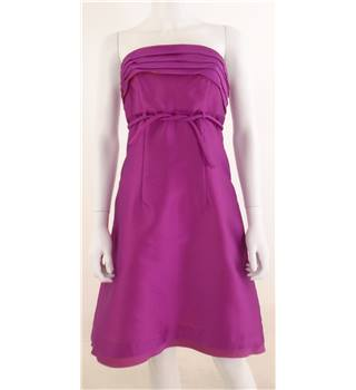 BNWT Oky-Coky Size 8 Strapless Pink Silk Blend Cocktail Dress