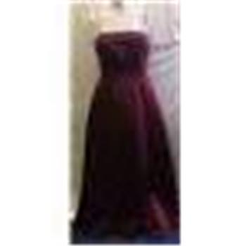 Mori Lee  -  Dress - Size 14  - Wine Red