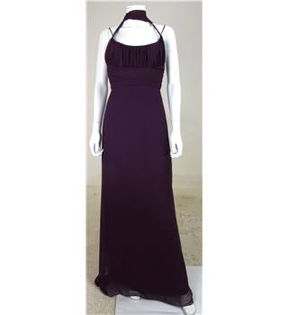 Jim Hjelm Occasions Size 10 Aubergine Coloured Bridesmaids Dress