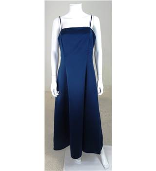 Debut Size 14 Navy Blue Spaghetti Straps Bridesmaids Dress