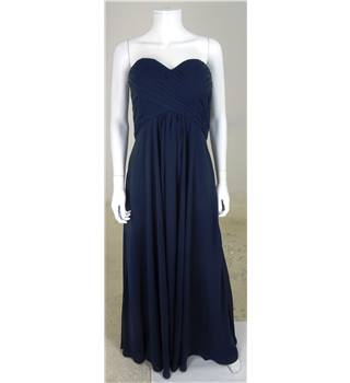 DIY Fashion Size 10 Navy Blue Sweetheart Neckline Bridesmaids Dress