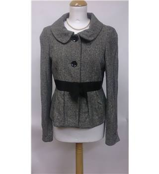 Topshop grey wool jacket - Size 12 - Smart / office / evening / winter