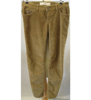 "Hollister size: 24"" brown corduroy trousers"