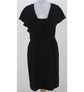 iBlues: Size 10: Black wrap dress