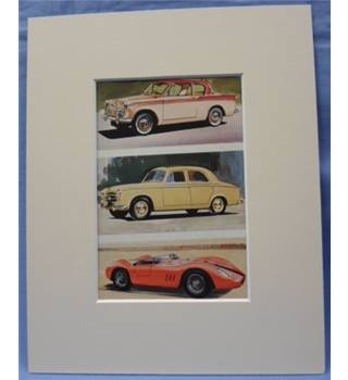 The Ladybird Book of Motor Cars       Plate: Sunbeam Rapier, Peugeot 403 Saloon, Maserati S.I Sport