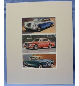 The Ladybird Book of Motor Cars       Plate: Wolseley 6/99, Valiant, Humber Super Snipe