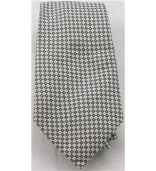 Moss Bros grey and white silk tie