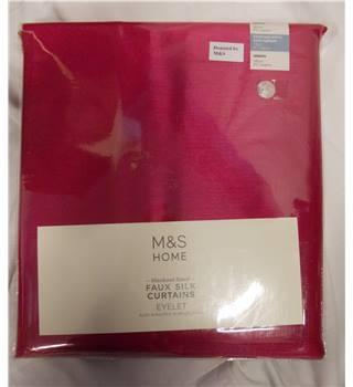 NWOT M&S Fuscia faux silk curtains