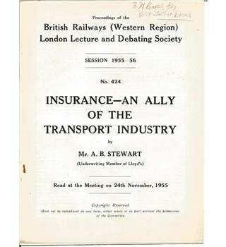 Proceedings of the British Railways (Western Region) London Lecture and Debating Society