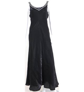 Minuet Size 12 Black Evening Dress With Embellished Straps