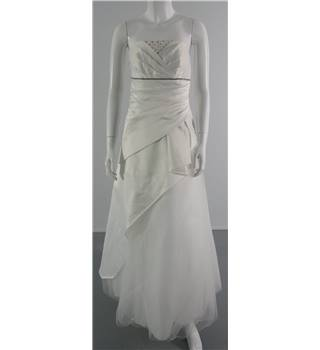 Jump Apparel Size S Strapless Bejewelled Layered Wedding Dress