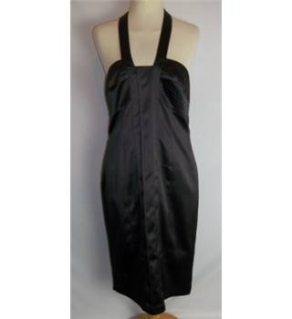 Next  Size: 12  Brown Halter-neck dress