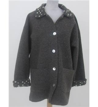 Softwear: Size S: Brown casual blanket coat