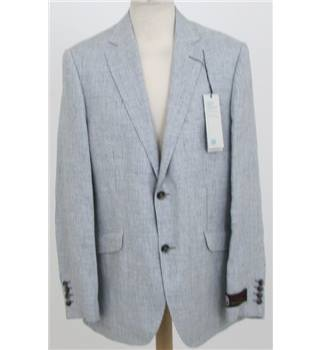 "NWOT: M&S Size 44"" S Dove grey small check jacket"