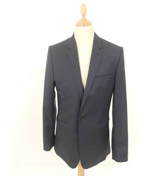 "Ted Baker Size: Medium, 40"" chest, tailored fit Navy Blue Smart/Stylish ""Pashion""  Wool Single Breasted Jacket."
